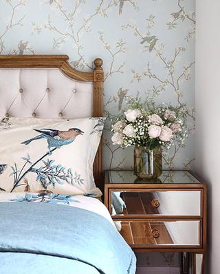 90平美式风格两居室床头柜效果图