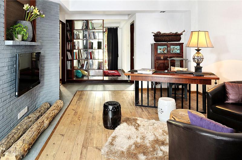 古典中式客厅书房效果图