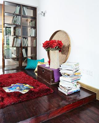 复古中式书房 地台榻榻米设计