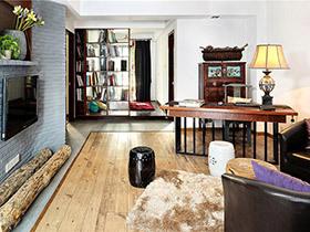 100平中式风格三居室装修 木质禅韵空间