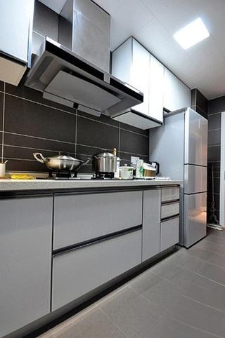 90平简约风格装修厨房图片大全