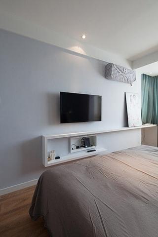 极简主义卧室电视墙设计