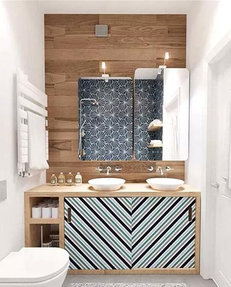 卫生间装修镜子背景墙