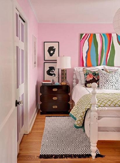 粉色系卧室装饰图片大全