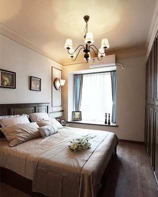 90平混搭风格二居卧室榻榻米床装修