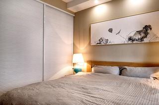 90平米北欧风格三居卧室衣柜图片