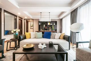 130平混搭风格四居客厅装修