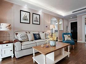 88㎡两居室装修实景图 简约美式的美