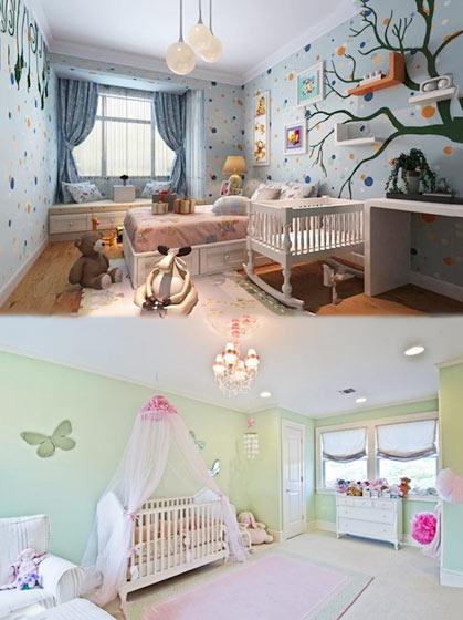 温馨婴儿房装修装饰效果图