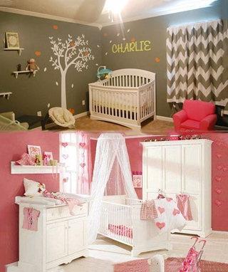 温馨婴儿房设计布置图