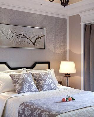 时尚现代美式 卧室床头效果图