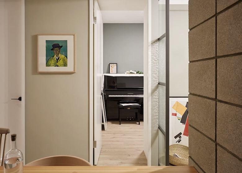 77㎡混搭一居室走廊装饰图