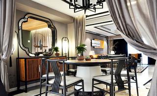 复古新中式餐厅效果图