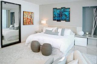 现代混搭卧室设计实景图