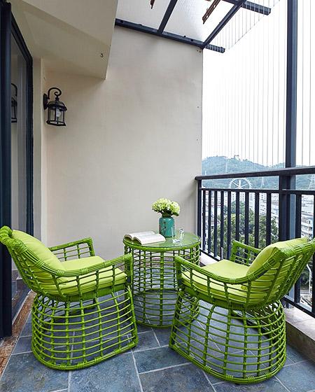 简约风格五居室阳台装饰设计