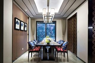160平中式风格样板房餐厅效果图