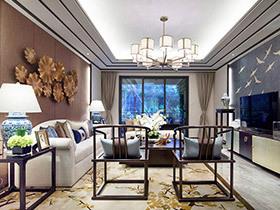 160平中式风格样板房装修 水墨江南印象