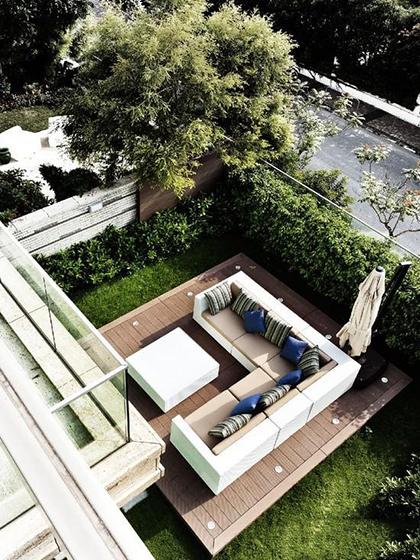 露天庭院布置设计效果图
