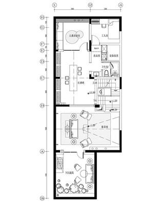 450平地中海风格别墅二楼平面图