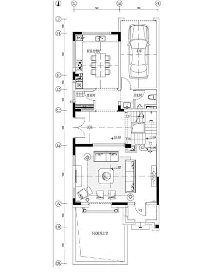 450平地中海风格别墅三楼平面图