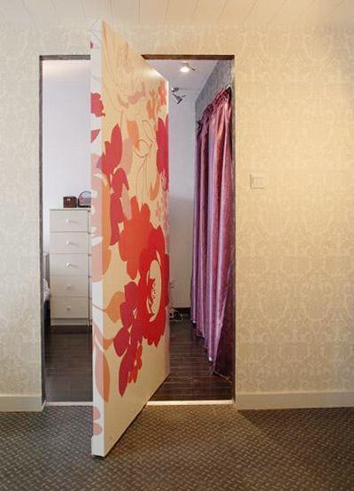 隐形门背景墙装修装饰效果图