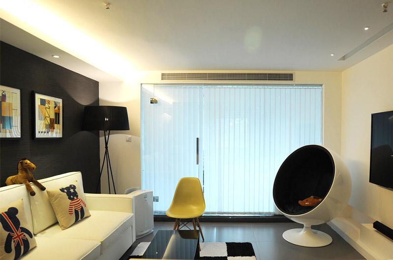 80平loft风格两居客厅效果图