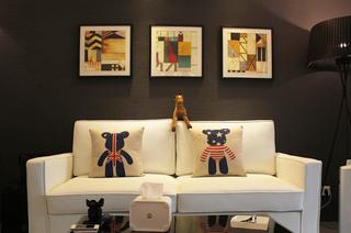 80平loft风格两居客厅沙发图片