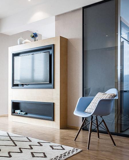 原木宜家风 电视背景墙设计