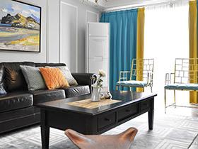 140平美式风格三室两厅装修 春意盎然