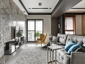 90平现代简约风格样板房装修 禅意满盈