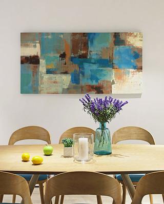 简约风格两居室餐厅背景墙装饰画