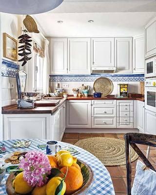 100㎡田园风两居室厨房效果图