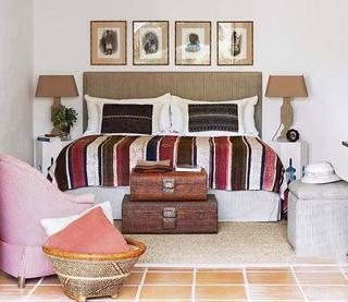 100㎡田园风两居室卧室平面图