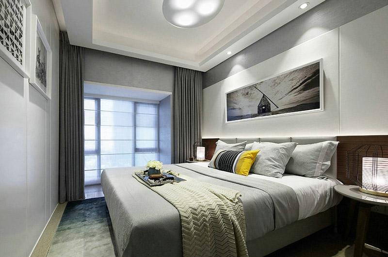 80平简约两室两厅主卧室装潢设计