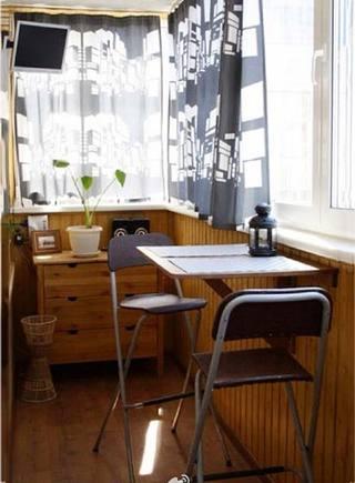 阳台改造餐厅设计实景图