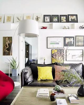 250平挑高复式客厅效果图