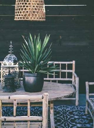庭院竹椅子设计布置图