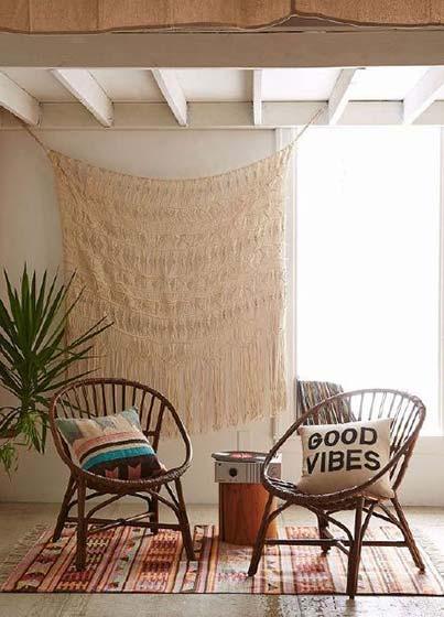 阳台竹椅子摆放图片
