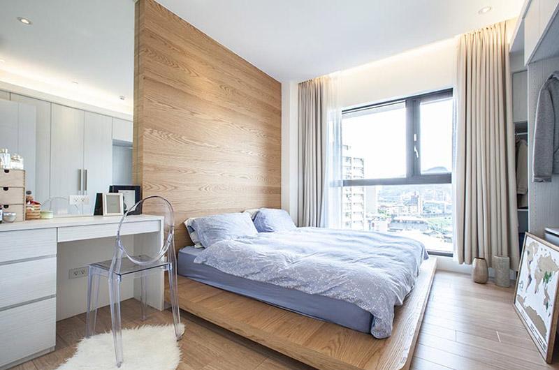 自然北欧风主卧室 原木吊床装修