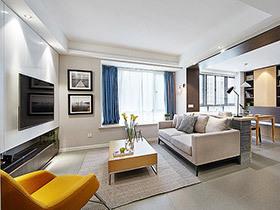 设计师自己设计的家 现代风三居室很靓丽