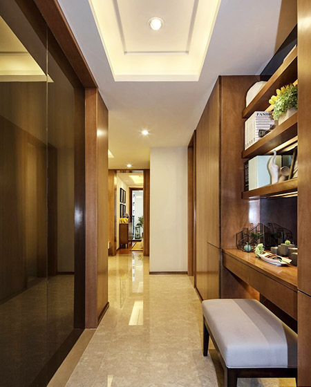 77平简约风格样板房过道装修图