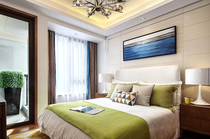 温馨现代宜家风卧室效果图