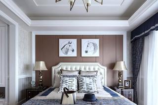 335平法式别墅卧室床头装饰画