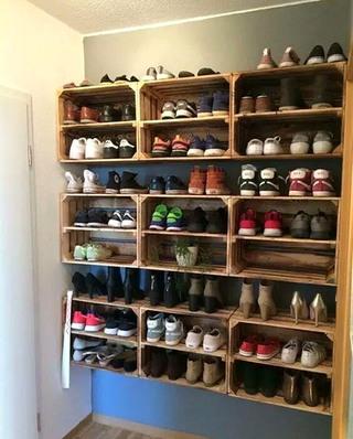 实用玄关墙面鞋柜效果图