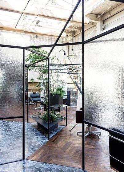 玻璃隔断布置平面图