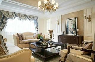 美式客厅沙发构造平面图