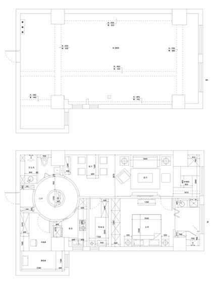 110㎡美式三居室平面图