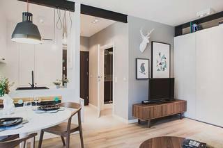 60平米单身公寓整体效果图