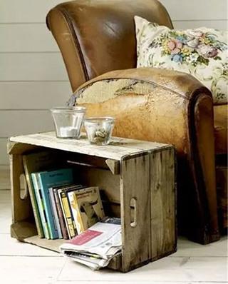 实用木质沙发边几图片
