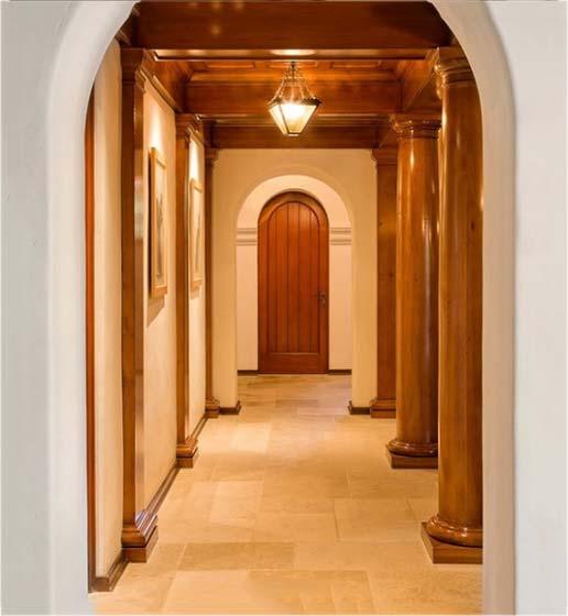复古风走廊装修装饰效果图